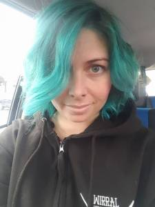 Customers photo of her newly coloured hair with Elumen