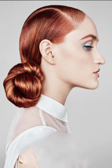 low slung bun party hairstyles at salon m hairdressers in liverpool