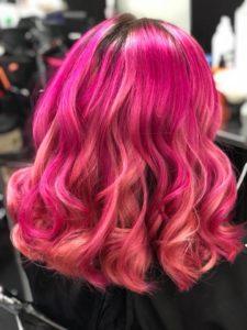 vibrant hair colours at salon m hair salon in wallasey