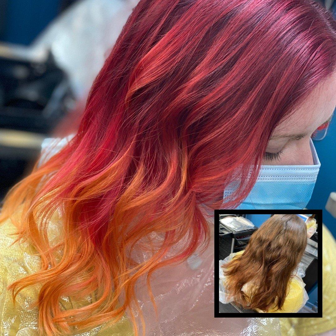 Face Framing balayage hair colours at Salon M hair salon in Wallasey, Wirral