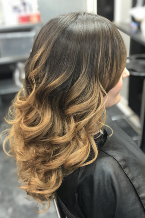 This client was new to Balayage/Ombre and wanted to start with her colour looking very natural  and grown out