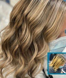 Super Blonde Balayage at Salon-M hair salon in Wallasey